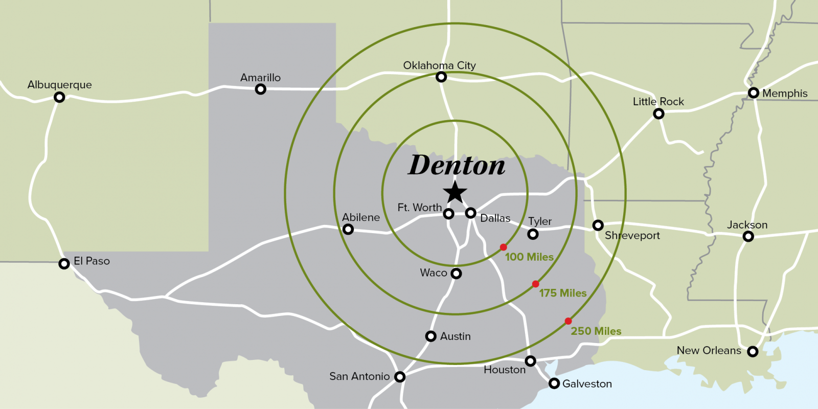 Denton Texas Map Denton on the Map | Denton Economic Development Partnership