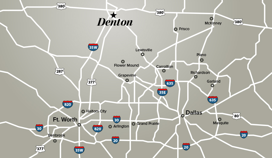 Denton TX Local Map