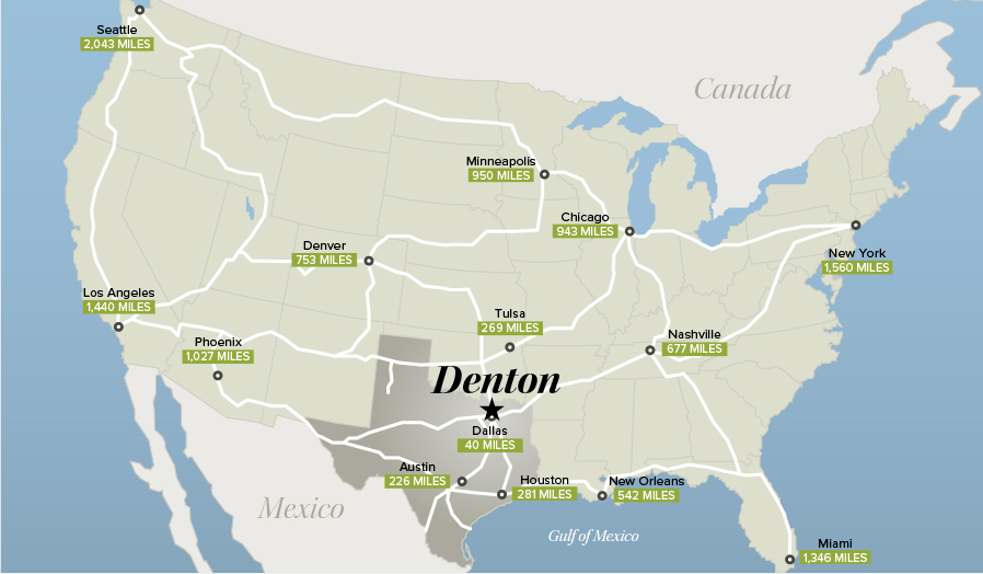 Denton TX National Map